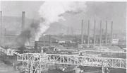 活況をみせる製鉄製鋼工場群
